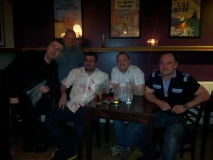 L-R Frank, Andy, me, Liam, Jason