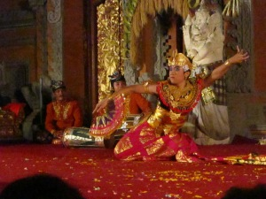 Balinese dance show at Ubud Palace