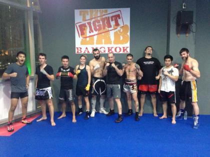 Team spirit at Bangkok Fight Lab