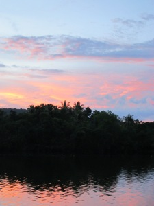 Jungle sunset in Tatai
