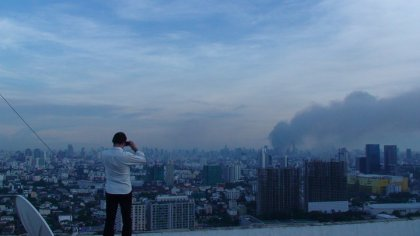 A view of Bangkok burning from my rooftop