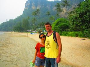 Fai and I in Krabi, post-engagement